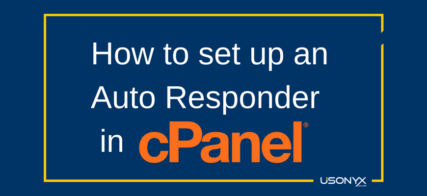 How to set up an autoresponder in cPanel