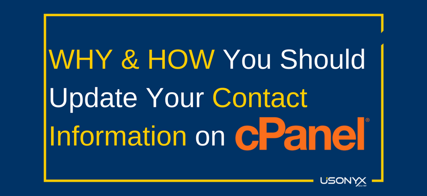 WHY & HOW You Should Update Your Contact Information on cPanel
