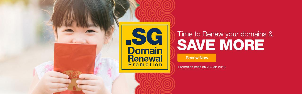 SG Domain Renewal Promo